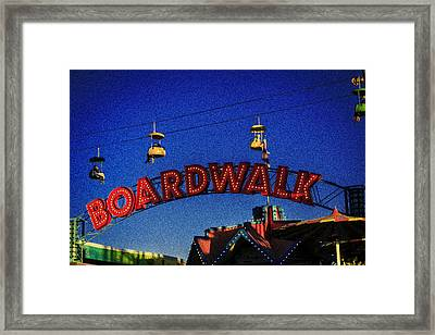 Santa Cruz Boardwalk 4 Framed Print by Scott Campbell