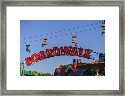 Santa Cruz Boardwalk 5 Framed Print by Scott Campbell