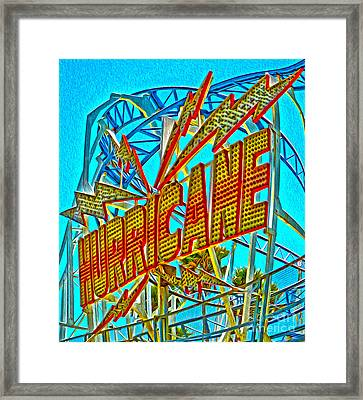 Santa Cruz Boardwalk - Hurricane Framed Print by Gregory Dyer