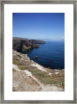 Santa Cruz Island Coast Framed Print