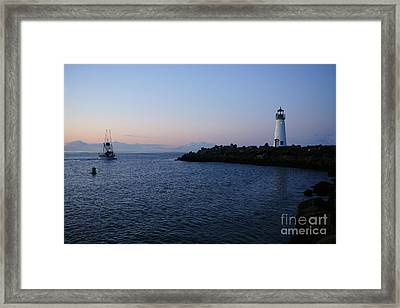 Santa Cruz Lighthouse Framed Print