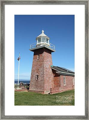 Santa Cruz Lighthouse Surfing Museum California 5d23937 Framed Print by Wingsdomain Art and Photography