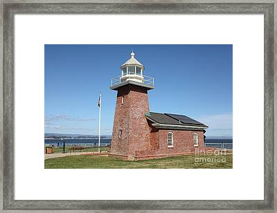 Santa Cruz Lighthouse Surfing Museum California 5d23940 Framed Print by Wingsdomain Art and Photography