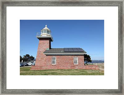 Santa Cruz Lighthouse Surfing Museum California 5d23942 Framed Print by Wingsdomain Art and Photography
