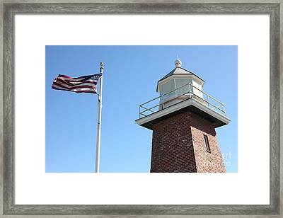 Santa Cruz Lighthouse Surfing Museum California 5d23951 Framed Print by Wingsdomain Art and Photography