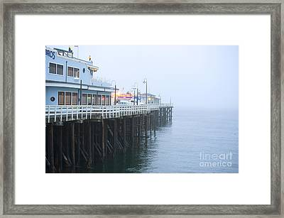 Santa Cruz Pier In The Fog Framed Print by Artist and Photographer Laura Wrede
