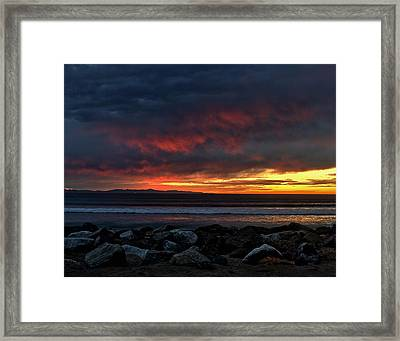Framed Print featuring the photograph Santa Cruz Rocks by Michael Gordon