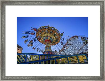 Santa Cruz Seaswing And Giant Dipper 1 Framed Print by Scott Campbell
