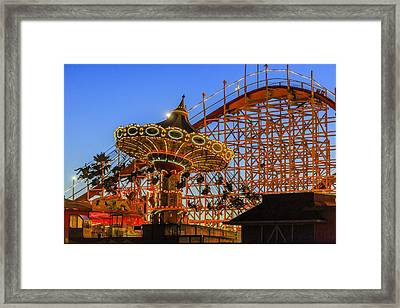 Santa Cruz Seaswing And The Giant Dipper 3 Framed Print by Scott Campbell