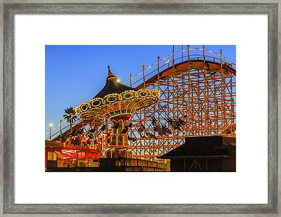 Santa Cruz Seaswing And The Giant Dipper 4 Framed Print by Scott Campbell
