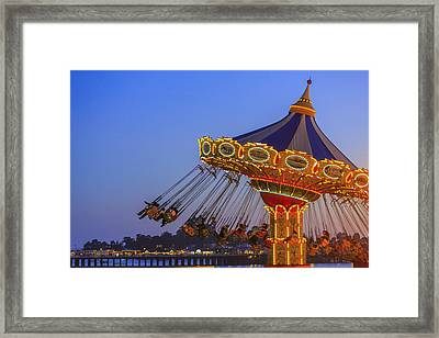 Santa Cruz Seaswing And The Pier 1 Framed Print by Scott Campbell
