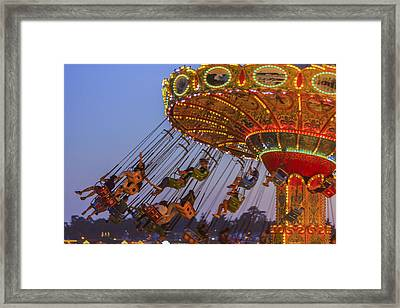 Santa Cruz Seaswing And The Pier 2 Framed Print by Scott Campbell