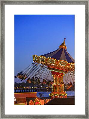 Santa Cruz Seaswing And The Pier 3 Framed Print by Scott Campbell