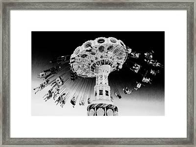 Santa Cruz Seaswing At Sunset 6 Infrared Framed Print by Scott Campbell