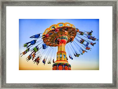 Santa Cruz Seaswing At Sunset 6 Painterly Framed Print