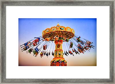 Santa Cruz Seaswing At Sunset 8 Painterly Framed Print