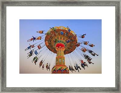 Santa Cruz Seaswing At Sunset 9 Framed Print