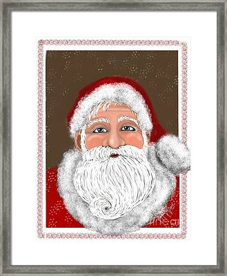 Santa Curl Framed Print