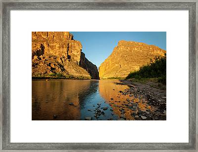 Santa Elena Canyon And Rio Grande Framed Print by Larry Ditto
