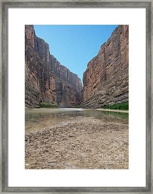 Santa Elena Canyon Big Bend National Park Texas Framed Print by Shawn O'Brien