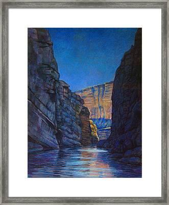 Santa Elena Canyon Big Bend Texas Framed Print by Dan Terry