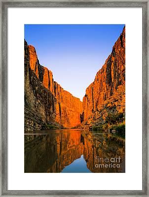 Santa Elena Canyon Framed Print by Inge Johnsson