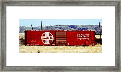 Santa Fe - All The Way Framed Print by Darin Volpe