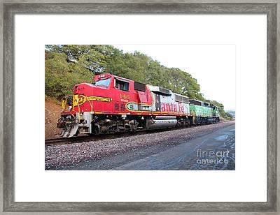 Santa Fe And Burlington Northern Bnsf Locomotives At Fernandez Ranch California - 5d21154 Framed Print