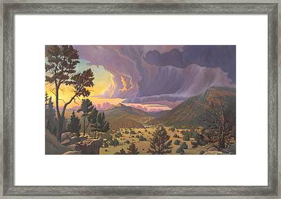Santa Fe Baldy Framed Print by Art James West