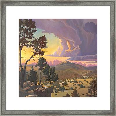 Santa Fe Baldy - Detail Framed Print by Art James West