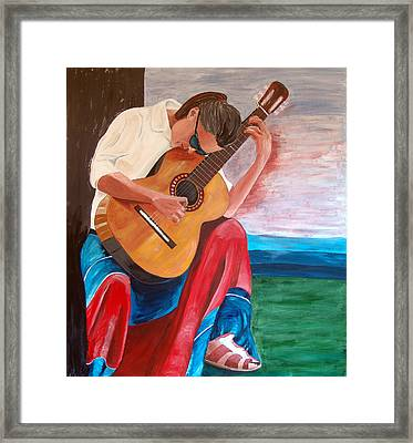 Santa Fe Blues After Picasso Framed Print by Kevin Callahan