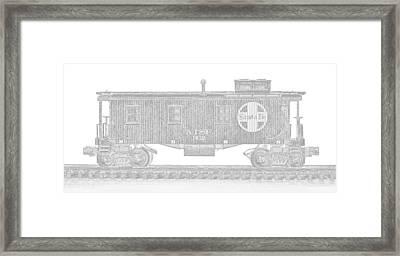 Santa Fe Caboose 2 Framed Print by John Brueske