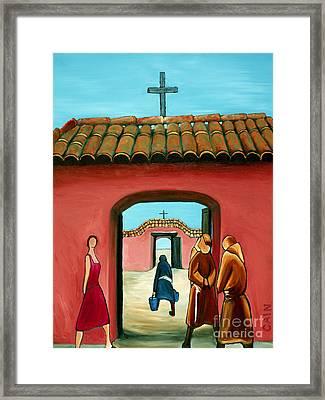 Santa Fe Church Framed Print by William Cain