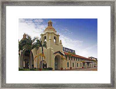 Santa Fe Depot Framed Print by Photographic Art by Russel Ray Photos