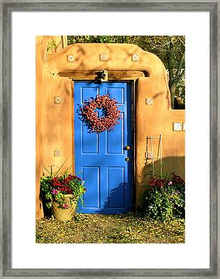 Framed Print featuring the photograph Santa Fe Door by John Babis