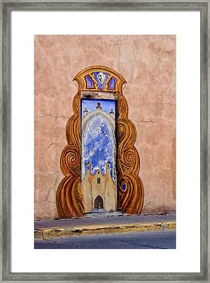 Santa Fe Door Mural Framed Print by Carol Leigh