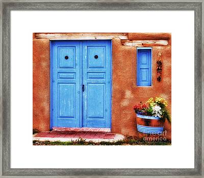 Santa Fe Doorway Framed Print