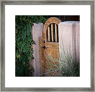 Framed Print featuring the photograph Santa Fe Gate by Patrice Zinck