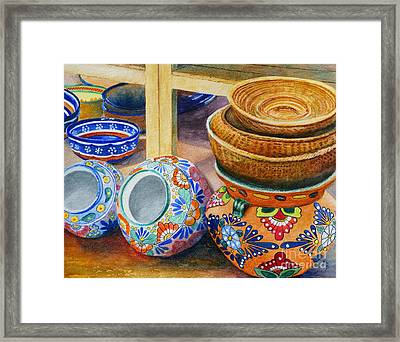 Santa Fe Hold 'em Pots And Baskets Framed Print