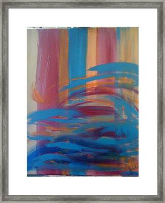 Framed Print featuring the painting Santa Fe Hues by Judi Goodwin