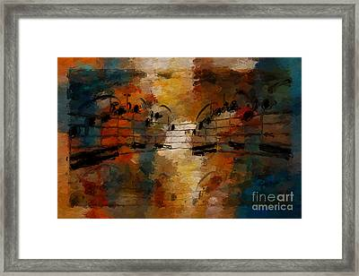Framed Print featuring the digital art Santa Fe Intermezzo by Lon Chaffin
