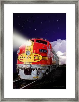 Santa Fe Loco Framed Print
