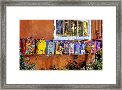 Santa Fe Mailboxes 2 Framed Print by Wendell Thompson
