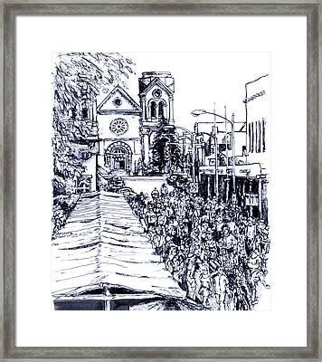 Santa Fe Market Framed Print