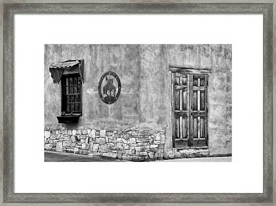 Framed Print featuring the photograph Santa Fe New Mexico Street Corner by Ron White