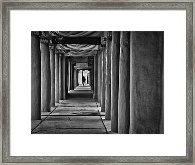 Framed Print featuring the photograph Santa Fe New Mexico Walkway by Ron White