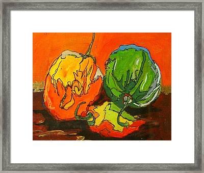 Santa Fe Peppers Framed Print