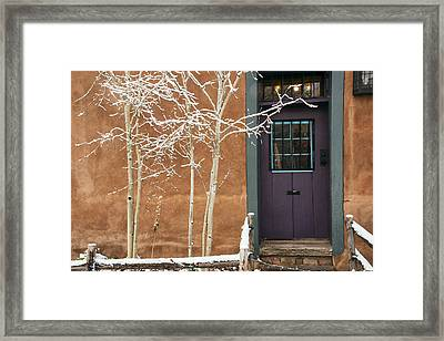 Santa Fe Purple Door Framed Print