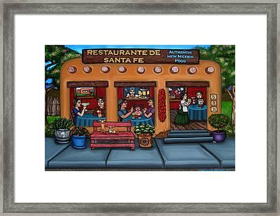 Santa Fe Restaurant Tyler Framed Print by Victoria De Almeida