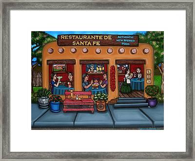 Santa Fe Restaurant Framed Print